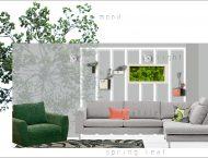 Green Mood design de interior - apartament cu 3 camere Bucuresti